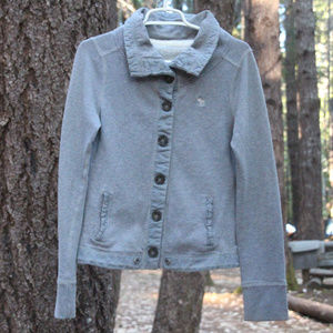 Abercrombie & Fitch Grey Button Up Jacket